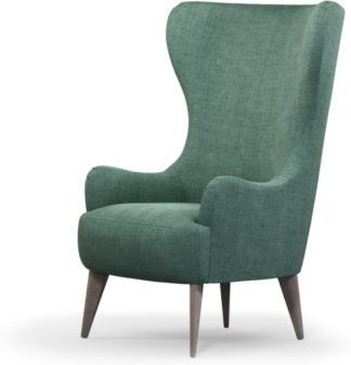 An Image of Custom MADE Bodil Accent Armchair, Duck Egg Blue with Light Wood Leg