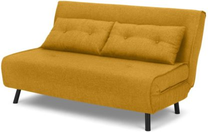 An Image of Haru Large Double Sofa Bed, Butterscotch Yellow
