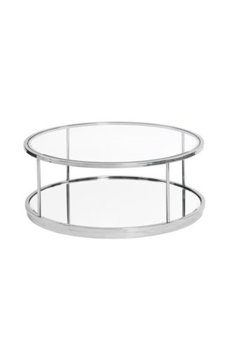 An Image of Rippon Silver Circular Coffee Table