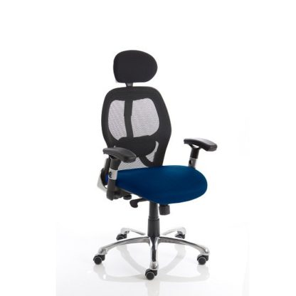 An Image of Coleen Home Office Chair In Serene With Castors