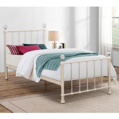 An Image of Jessica Steel Single Bed In Cream