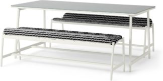 An Image of Kula Garden Bench Set, Black and White