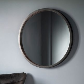 An Image of Boho Boutique Bedroom Mirror With Matt Black Charcoal Frame