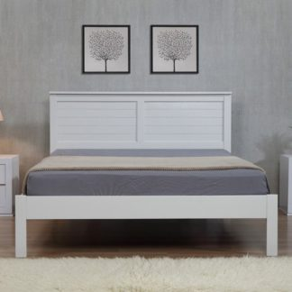 An Image of Wilmot Wooden Double Bed In Grey