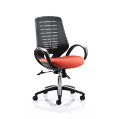 An Image of Sprint Airmesh Office Chair Orange