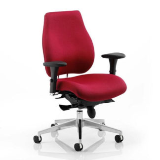 An Image of Chiro Plus Ergo Office Chair In Wine With Arms