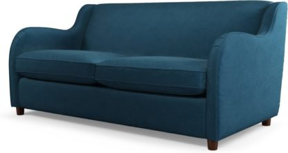 An Image of Custom MADE Helena Sofabed with Memory Foam Mattress, Plush Teal Velvet