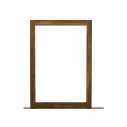 An Image of Parkfield Dressing Mirror In Brush Effect Wooden Frame