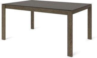 An Image of Custom MADE Corinna 6 Seat Dining Table, Concrete and Smoked Oak