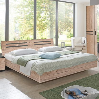 An Image of Susan Wooden Double Bed In Silver Fir