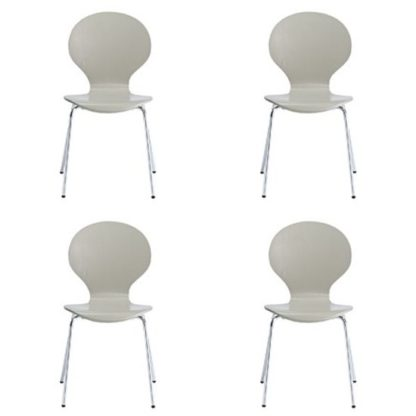 An Image of Ibiza Set Of 4 Dining Chairs In Stone