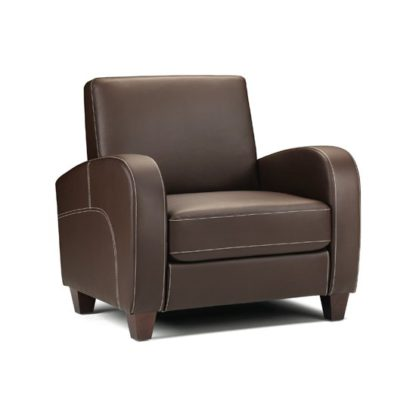 An Image of Vivo Chair in Chestnut Faux Leather