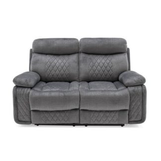An Image of Katniss Recliner 2 Seater Sofa In Grey Fabric