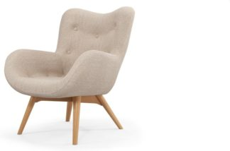 An Image of Custom MADE Doris Accent Armchair, Shetland Pink
