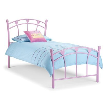 An Image of Jemima Pink Metal Bed