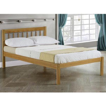 An Image of Santos Wooden Single Bed In Antique Pine