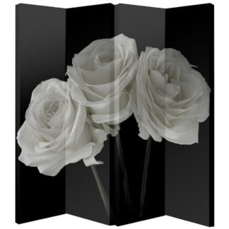 An Image of White Rose Foldable Room Divider