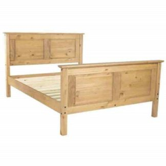 An Image of Corina King Size High Bed In Antique Wax Finish