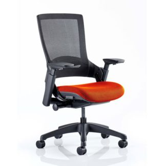 An Image of Molet Black Back Office Chair With Tabasco Red Seat