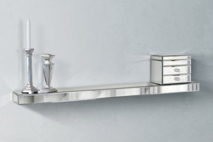 An Image of Mirrored Floating Wall Shelf 120cm