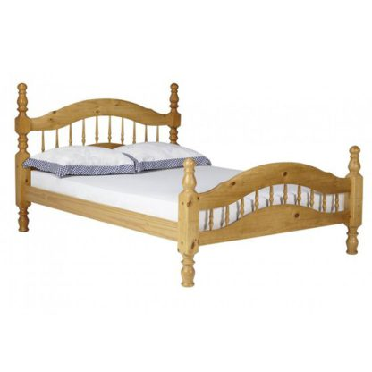An Image of Padova Pine Wooden King Size Bed In Oak