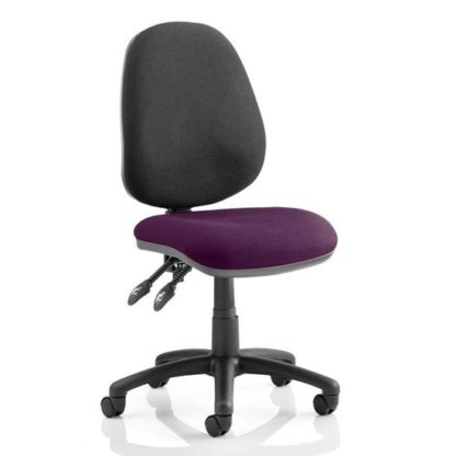 An Image of Luna II Black Back Office Chair In Tansy Purple