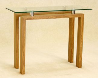 An Image of Adina Clear Glass Console Table