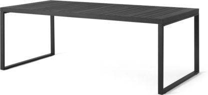 An Image of Catania Garden 8 Seater Dining Table, Black and Polywood