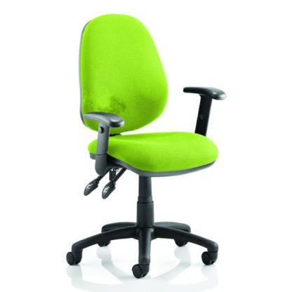 An Image of Luna II Office Chair In Myrrh Green With Arms