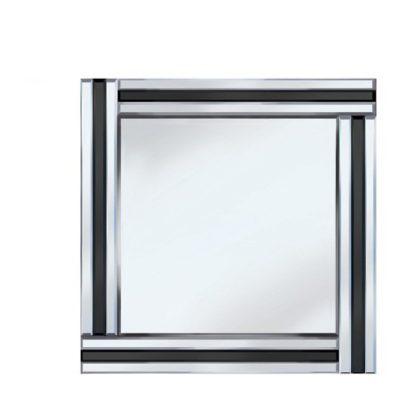 An Image of Black Stripe 60x60 Square Mirror