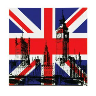 An Image of London Building Lacquered Print Wall Art
