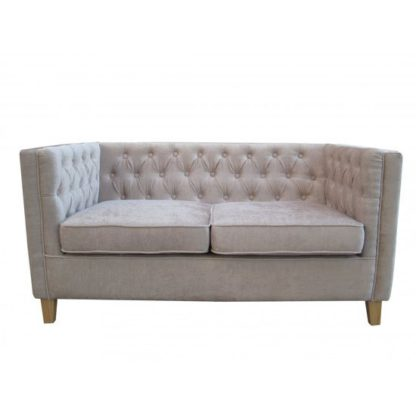 An Image of Yorick Contemporary Mink Finish Chenille Style Fabric Sofa