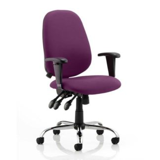 An Image of Lisbon Office Chair In Tansy Purple With Arms