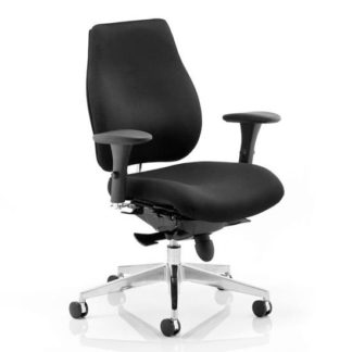 An Image of Chiro Plus Ergo Office Chair In Black With Arms
