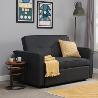 An Image of Orlando Modern Fabric Sofa Bed In Grey
