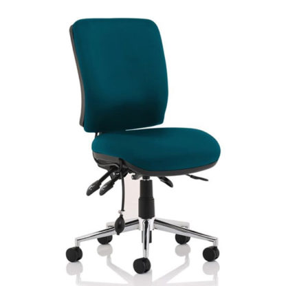 An Image of Chiro Medium Back Office Chair In Maringa Teal No Arms