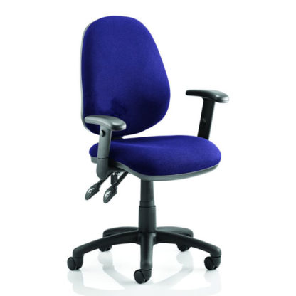 An Image of Luna II Office Chair In Stevia Blue With Arms