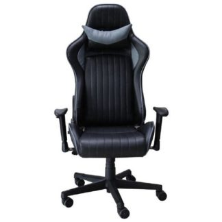 An Image of Throop Adjustable Recliner Office Chair In Black And Grey