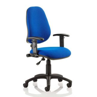 An Image of Eclipse Plus I Office Chair In Blue With Adjustable Arms