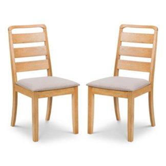 An Image of Lars Light Oak Dining Chair In Pair