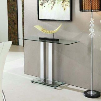 An Image of Jet Trendy Console Table Rectangular In Clear Glass