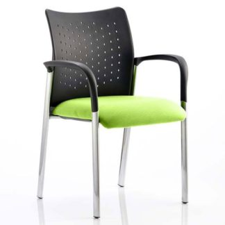 An Image of Academy Office Visitor Chair In Myrrh Green With Arms