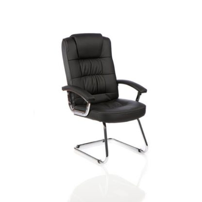 An Image of Moore Leather Cantilever Office Chair