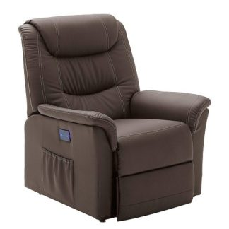An Image of Beacon Recliner Chair In Brown Faux Leather