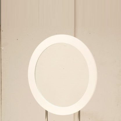 An Image of Laura Wall Mirror Round In White Frame