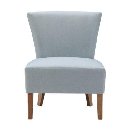 An Image of Austen Linen Lounge Chaise Chair In Duck Egg Blue