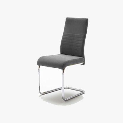 An Image of Jonas Metal Swinging Grey Dining Chair