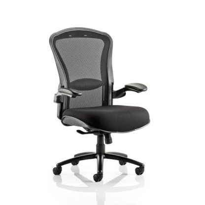 An Image of Spencer Modern Home Office Chair In Black With Castors