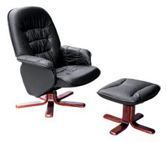 An Image of Swivel Lounge Chair and Footstool
