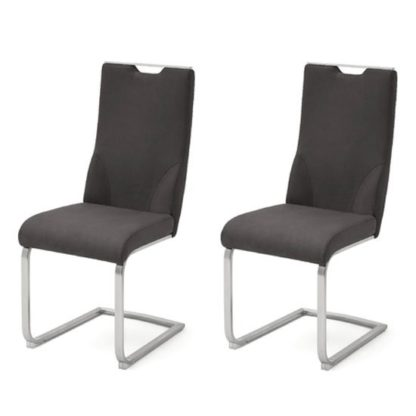 An Image of Jiulia Anthracite Cantilever Dining Chair In A Pair